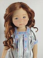 "REDDISH BROWN DOLL WIG SIZE 8/9"" FITS VINTAGE AND MODERN DOLLS"