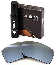 Polarized IKON Iridium Replacement Lenses For Oakley Eyepatch 1 Silver Mirror