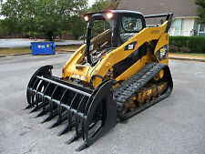 """Caterpillar Skid Steer Attachment 84"""" Root Rake Grapple with Teeth - Ship $199"""
