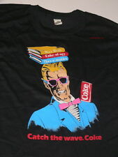 Y-106 Florida's Radio Station Max Headroom Catch the Wave Coca-Cola Tee Shirt