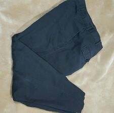 Nautica Clipper Mens Pants 40 x 32  Navy Cotton/Linen Blend  Flat Front