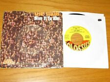 """1970 45 RPM w/PICTURE SLEEVE - THE MOB - COLOSSUS 134 - """"GIVE IT TO ME"""""""