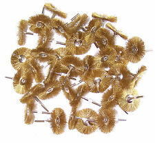 "36 BRASS WIRE BRUSH WHEELS 1-1/2"" FITS DREMEL SMB113"