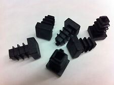 Qty 12 x 10mm Plastic Black Blanking End Caps Square Tube Pipe Inserts