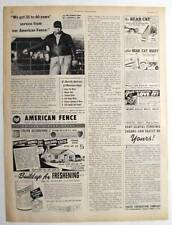 Original 1950 Fencing Ad Photo Endorsement by Herbert Rank of Greenville, Ohio