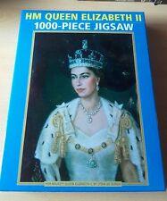 HM Queen Elizabeth II 1000 Pezzi Puzzle da Lydia DE BURGH in buonissima condizione MONARCHIA England