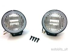 UNIVERSAL 12v CAR VAN ROUND CLEAR FOG LIGHTS LAMPS LIGHT LAMP 102mm E4 NEW