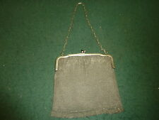 Antique Art Deco Flapper Style Alpacca Nickel Silver Small Mesh Chain Mail Purse