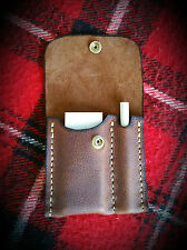 Hand sewn leather Bushcraft Sharpening kit survival ceramic arkansas stone