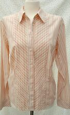 Marks & Spencer Size 18 peach stripe, stretch shirt blouse ❤Perfect Condition