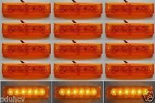 15 pcs 12V SMD LED Side Marker Orange Amber Indicators Lights Truck Trailer Bus
