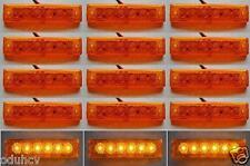 15 pcs 12V SMD LED Side Marker Orange Amber Indicators Lights Truck Trailer Bus