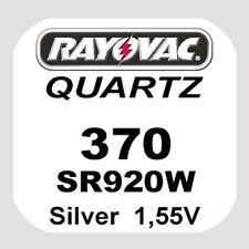 2x Rayovac SWISS MADE Uhren Batterie Knopfzelle 370/SR920W AG6 1,55V Blister Neu