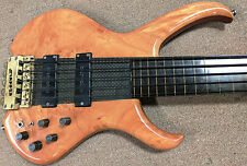 1980's Clover Snapper 5 String Fretless Bass Guitar Headless Composite Neck Thru