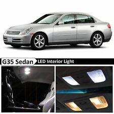 11x White LED Lights Interior Package  2003-2006 G35 Sedan + TOOL