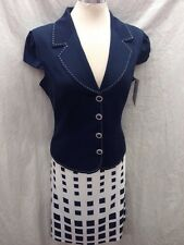 """EFFETTO ITALY SKIRT SUIT/NEW WITH TAG/RETAIL$240/SIZE 18/ LINED/SKIRT LENGTH27"""""""