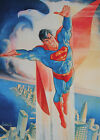 JOSE LUIS GARCIA LOPEZ rare SUPERMAN print SIGNED First Team Press 1988 18x24
