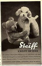 1950 Steiff Bär mit Hund Knopf im Ohr 7x11 cm original Printwerbung