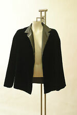 Dusan Green Velvet Jacket Mandarin Collar Crop Coat Evening Italy Long Sleeve M