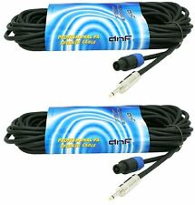 "(2 PACK) 25 FT SPEAKON TO 1/4"" SPEAKER 16G DJ PA PRO AUDIO CABLES - SHIPS TODAY"