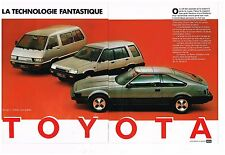Publicité Advertising 1983 (2 pages) Toyota Model F-Tercel 4X4 Supra