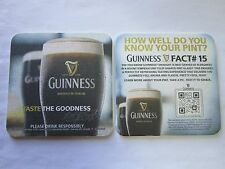 IRISH Beer Coaster ~ Guinness Brewery Stout ~ Do You Know Your Pint?  Fact # 15