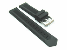 22MM RUBBER BAND STRAP FOR TAG HEUER F1 BT0717, BT0718 BLACK