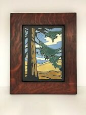 Motawi Yoshiko Redwood Art Tile Family Woodworks Oak Park Arts & Crafts Frame