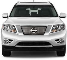 FITS NISSAN PATHFINDER 2013-2015 STAINLESS CHROME BILLET GRILLE INSERT OVERLAY