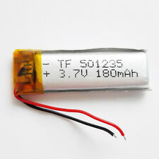 3.7V 180mAh Rechargeable LiPo polymer Lipo Battery For Mp3 GPS PSP DVD 501235