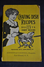 Ca 1910 Chafing Dish Recipes by Vinol, Iron Tonic & Body Builder