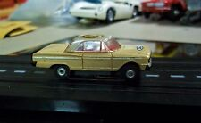 Aurora T-JET MODEL MOTORING Vintage HO #1353 FORD FAIRLANE TAN & WHITE w/Chassis