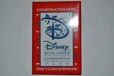 DISNEY WORLDWIDE CONSERVATION FUND HERO RED BUTTON PIN COLLECTORS