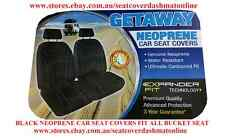 PAIR NEOPRENE CAR SEAT COVERS WITH WHITE STITCH FIT HOLDEN ASTRA BUCKET SEAT