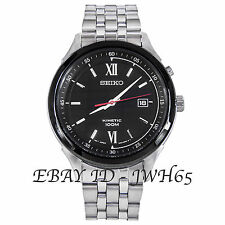 SEIKO 5 MEN'S KINETIC BLACK ROMAN DIAL SKA659P1 FREE UK POSTAGE