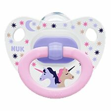 NUK Baby Pacifier 18-36 Months Silicone Unicorn Pink Soother Girl 0525-5