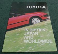 1985 TOYOTA UK CORPORATE BROCHURE History+ Hi Lux Corolla Celica MR2 Landcruiser