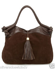 "FOLEY & CORINNA ""Suede City"" Brown Tote / Shoulder Bag W/Tassel Retail $425 NWT"