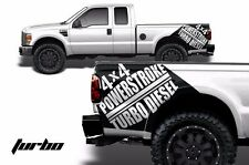 Vinyl Decal 4X4 Powerstroke Turbodiesel Wrap for Ford F-250/F-350 07-10 Black