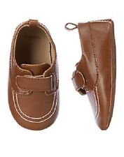 Gymboree Walnut Brown Loafer Crib Shoes Infant Baby Boy Size 2 NEW