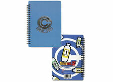 Dragon Ball Z Capsule Corp. Silver/Blue Wire Bound Notebook Licensed Merchandise