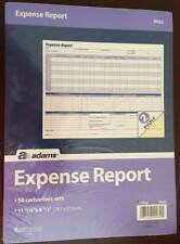 Adams Weekly Expense Report Forms, 2-Part Carbonless,11.44 x 8.5 Inches, 50 Sets