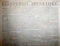 Original 1778-1781 American Revolutionary War newspaper from GREAT BRITAIN