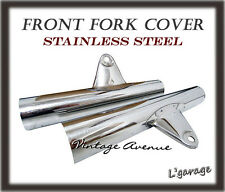 *HONDA SS50 CS50 S50 CL50 FRONT FORK COVER HEADLIGHT STAY *STAINLESS STEEL* [V]