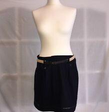 New Topshop Belted Blue Skirt Size 16 £35 Price Tag