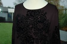 Mamut  Ladies Black Velour Embellished Jersey Top Size 38 BNWT RRP £69 DD7