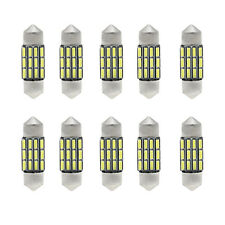 10 x 31mm 4014 SMD LED Car Interior Festoon Dome Light Bulbs Lamp White DC 12V