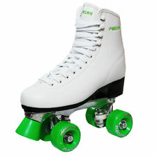 New Freesport Classic Quad roller skates kids Boot Green Size 5 UK 38eu