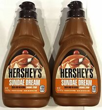 910897 2 x 425g BOTTLES OF HERSHEY'S SUNDAE DREAM CARAMEL SYRUP! U.S.A.