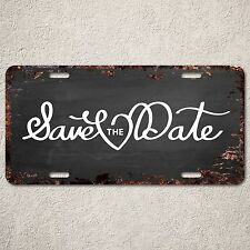 LP294 Save the Date Sign Rust Vintage Auto Car License Plate Home Store Decor